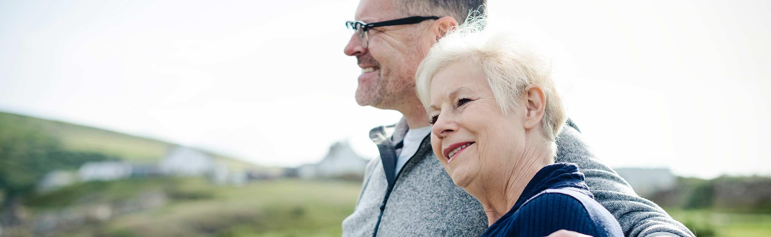Healthy Elderly Couple Spending Time Outside