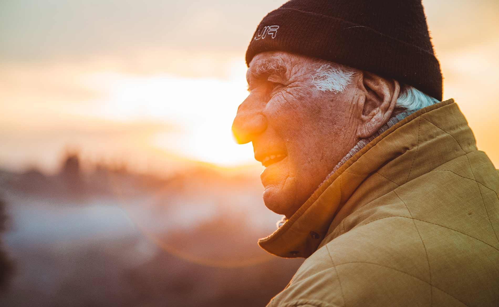 Healthy Elderly Man Enjoying the Outdoors