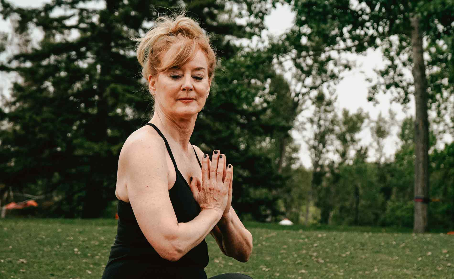 Healthy Woman Doing Yoga