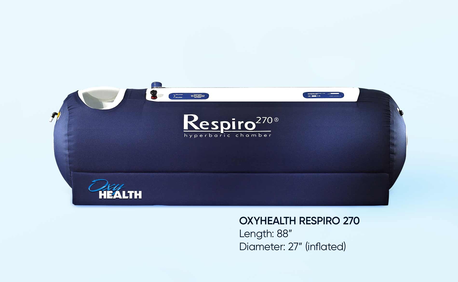 hyperbaric oxygen therapy chamber OxyHealth Respiro 270 alt